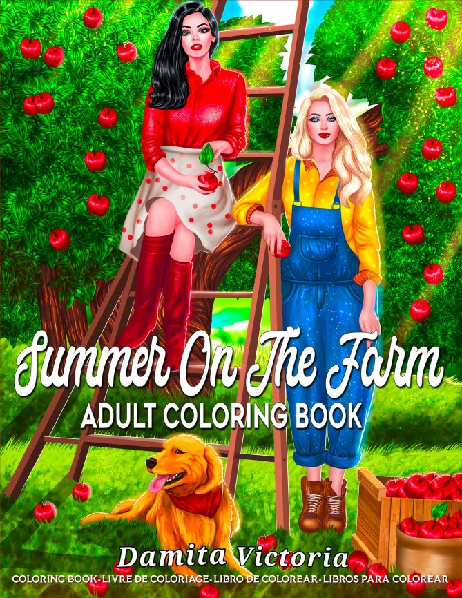 Adult Coloring Book Summer On The Farm