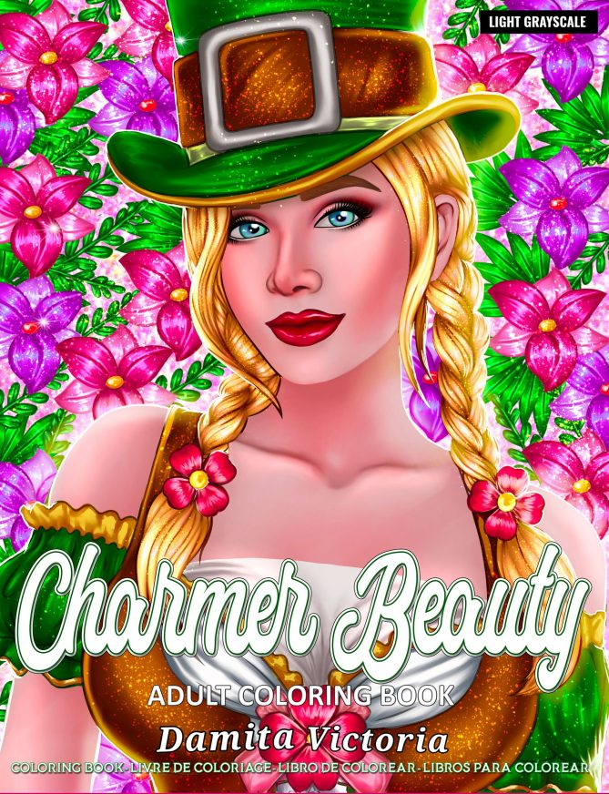 Charmer Beauty Adult Coloring Book by Damita Victoria