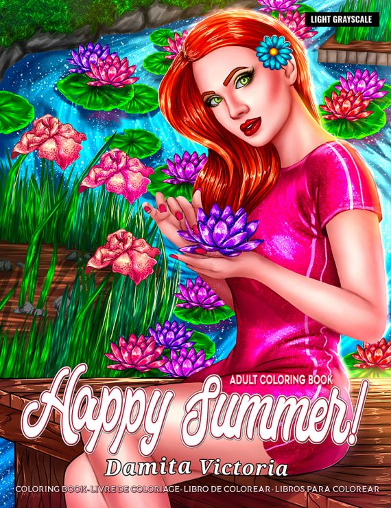 Happy Summer Coloring Book by Damita Victoria