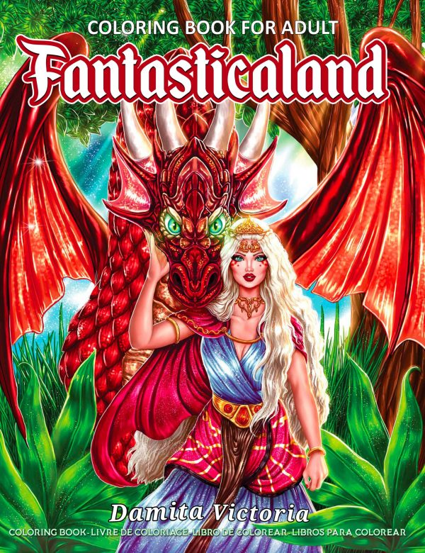 Fantasticaland Adult coloring book by Damita Victoria