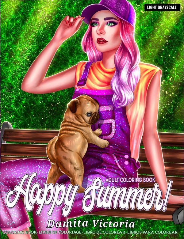 Happy Summer Coloring Book by Damita Victoria