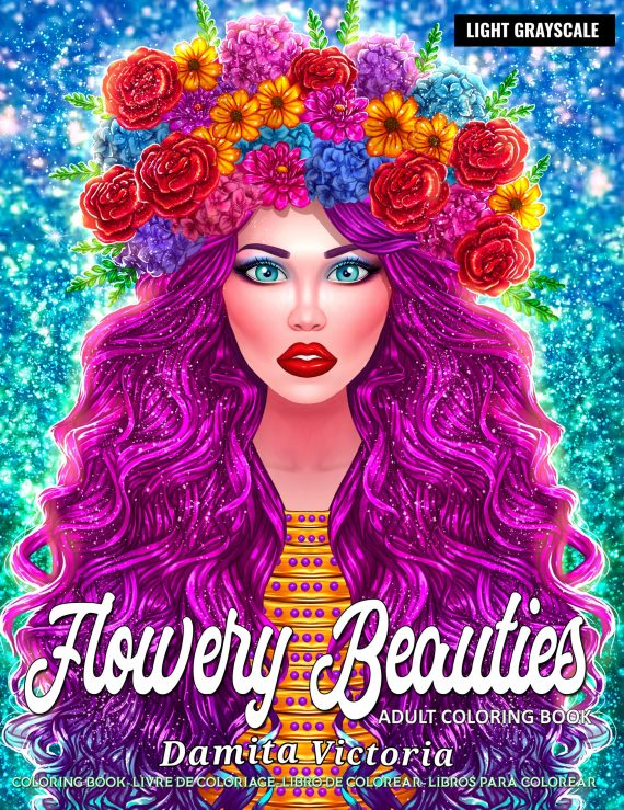 Coloring book by Damita Victoria Flowery Beauties