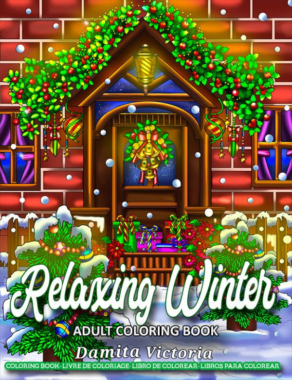 relaxing winter coloring book