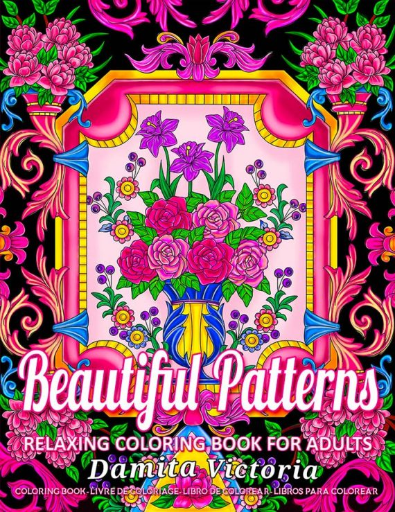 Beautiful Patterns Coloring Book by Damita Victoria
