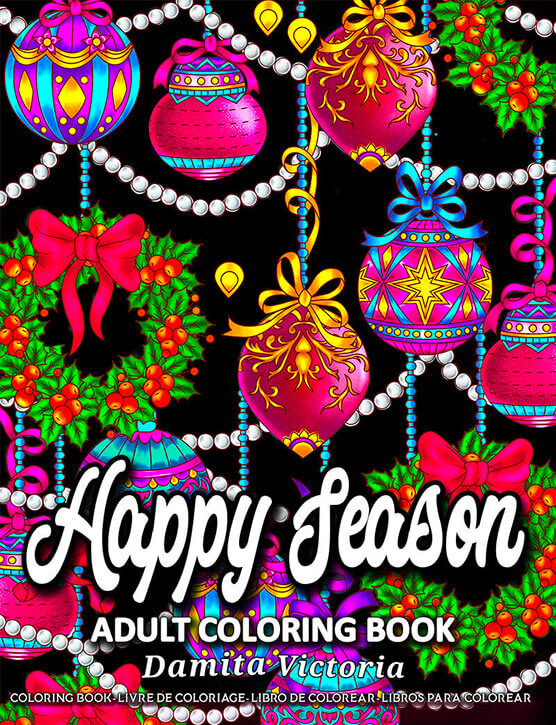 Happy Season Coloring Book by Damita Victoria