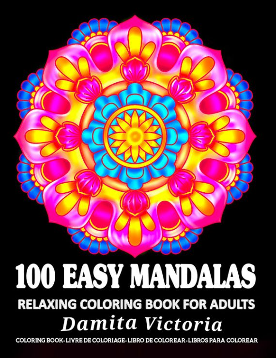 100-Easy-Mandala-Coloring-Book-by-Damita-Victoria