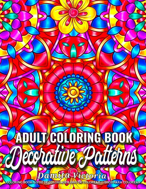 Decorative-Patterns Coloring Book by Damita Victoria