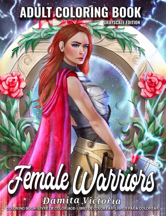 Female-Warriors Coloring Book by Damita Victoria