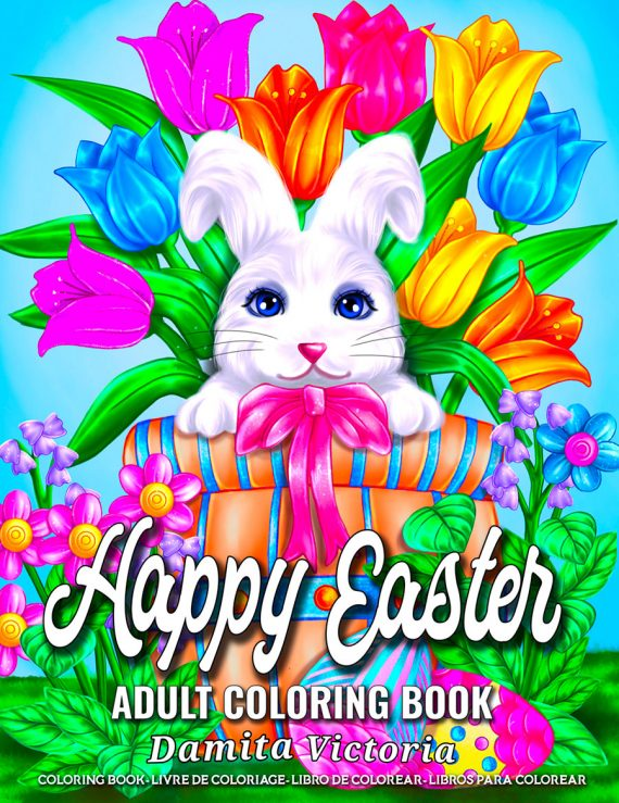 Happy Easter Coloring Book by Damita Victoria