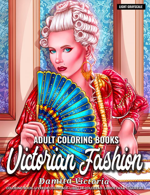 Victorian Fashion Coloring Book by Damita Victoria