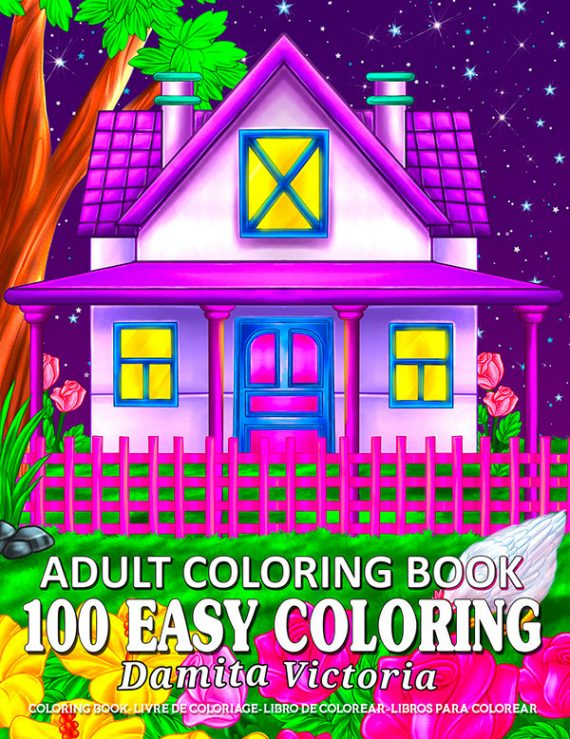 100-Easy-Coloring-Adult Coloring Book by Damita Victoria
