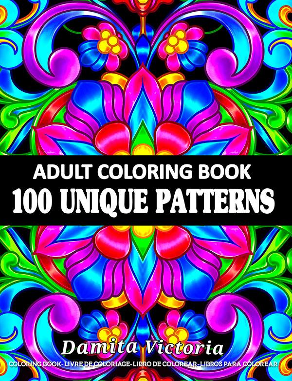 100 Unique Patterns Adult-Coloring-Book-by-Damita-Victoria