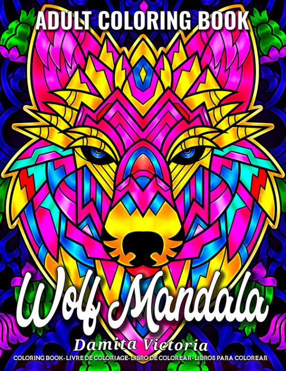 Wolf Mandala Adult Coloring Book by Damita Victoria