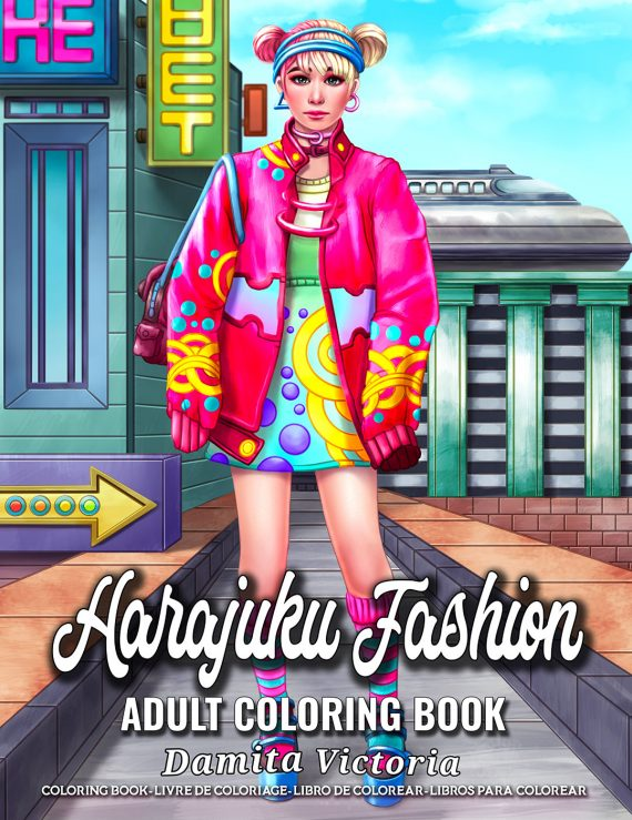 Harajuku Fashion Coloring Book by Damita Victoria