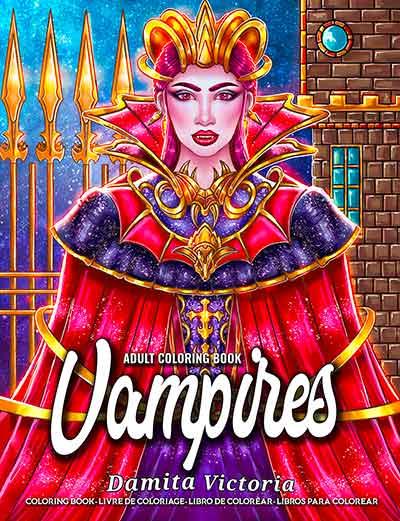 Vampires Coloring Book by Damita Victoria